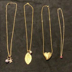 Lot of 4 fashion necklaces